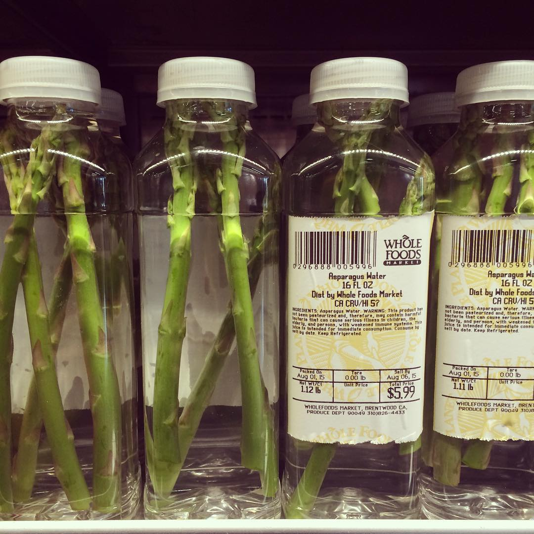 Whole Foods Asparagus Water in California